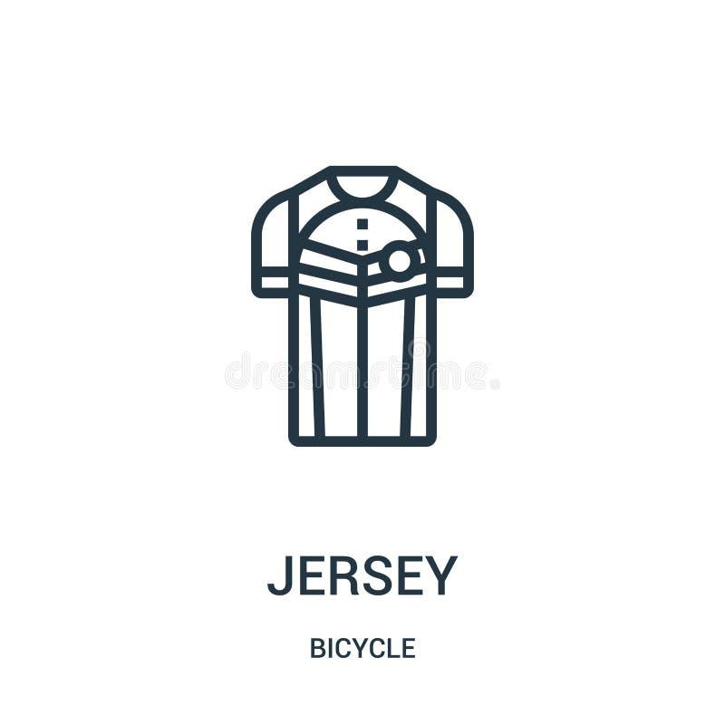 vetor do ícone do jérsei da coleção da bicicleta Linha fina ilustração do vetor do ícone do esboço do jérsei Símbolo linear para  ilustração do vetor