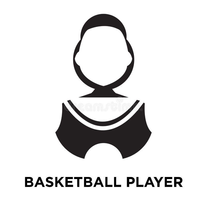 Vetor do ícone do jogador de basquetebol isolado no fundo branco, logotipo ilustração do vetor
