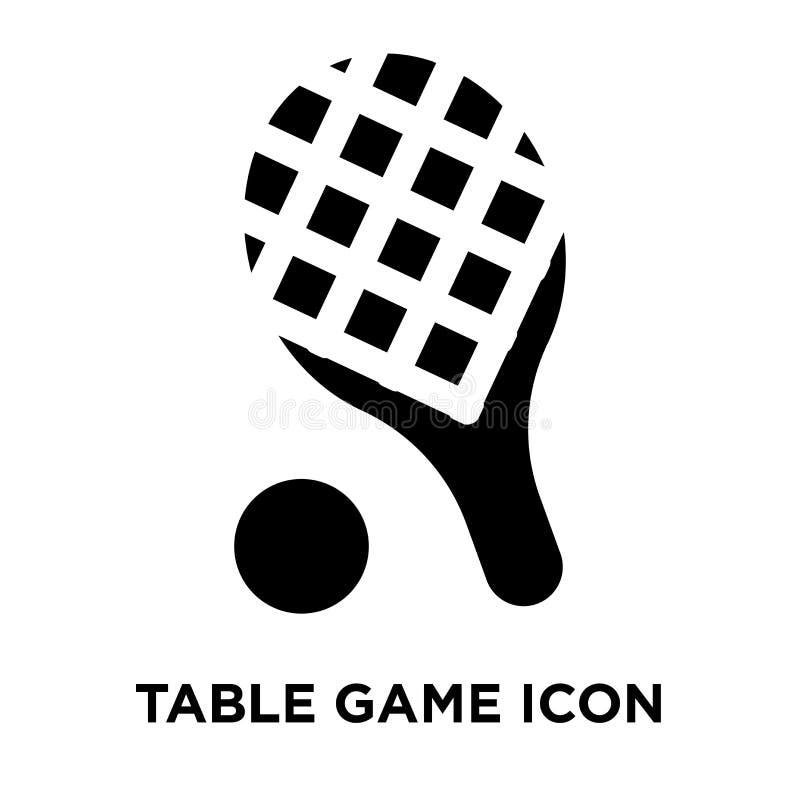 Vetor do ícone do jogo de tabela isolado no fundo branco, concep do logotipo ilustração stock