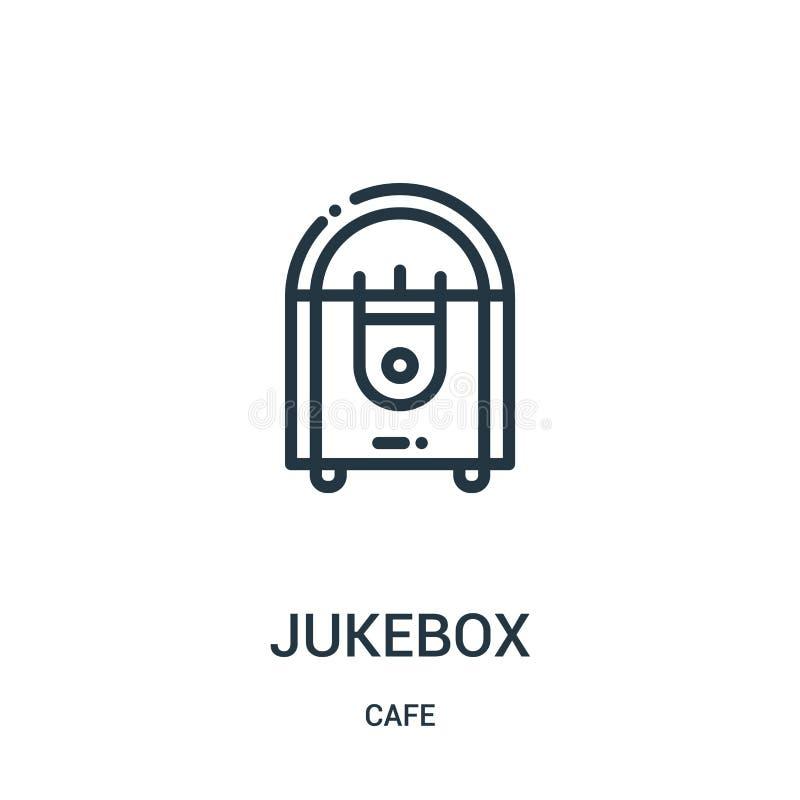 vetor do ícone do jukebox da coleção do café Linha fina ilustração do vetor do ícone do esboço do jukebox S?mbolo linear ilustração do vetor