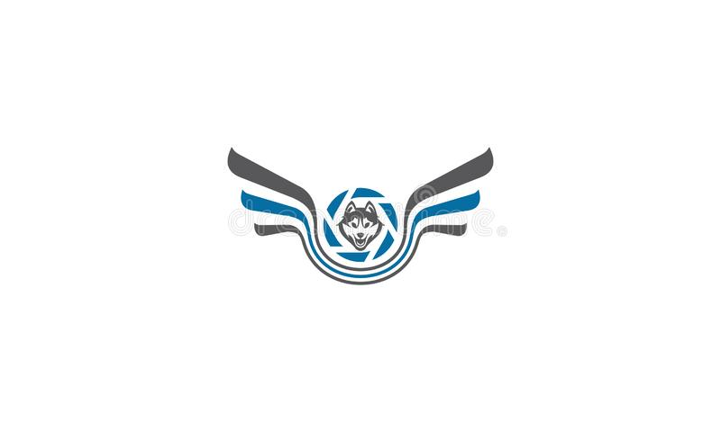 Vetor do ícone do logotipo da fotografia aérea