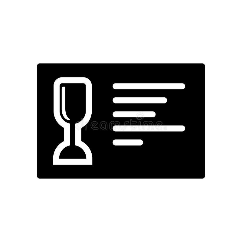 Vetor do ícone do menu do vinho isolado no fundo branco, sinal do menu do vinho, símbolos do alimento ilustração stock