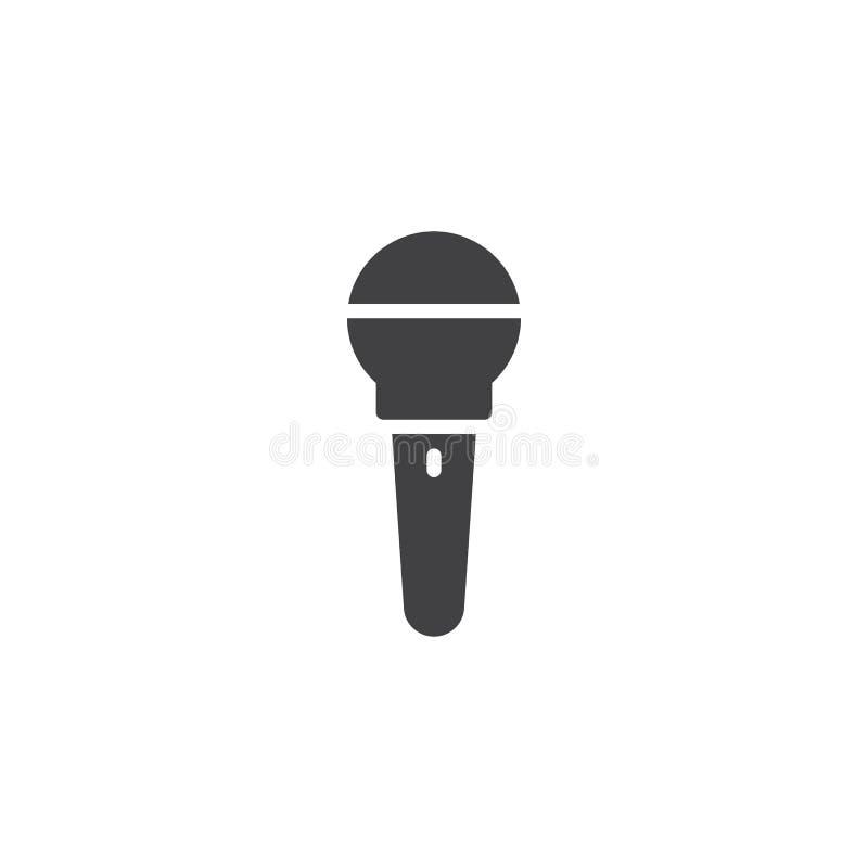 Vetor do ícone do microfone ilustração royalty free
