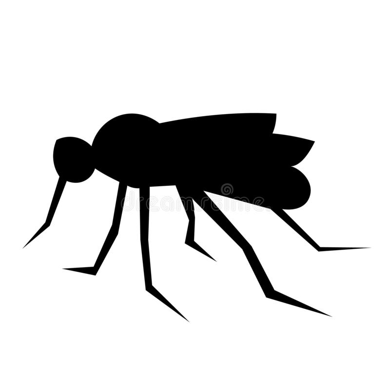 Vetor do ícone do mosquito ilustração stock
