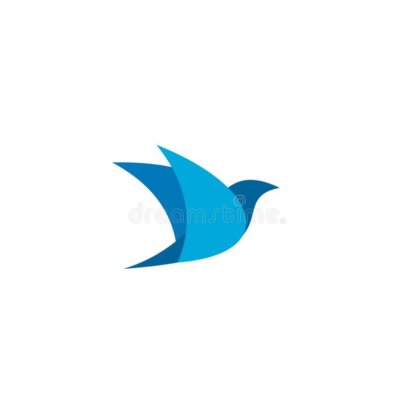 Vetor do ícone do pássaro, projeto da ilustração do logotipo símbolo ou mascote ilustração stock