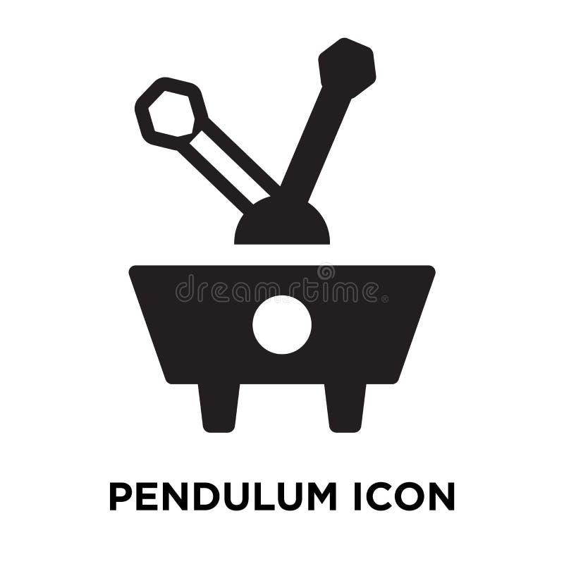 Vetor do ícone do pêndulo isolado no fundo branco, conceito do logotipo ilustração stock