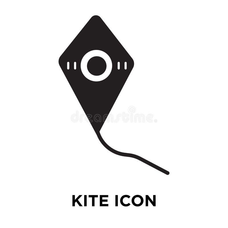 Vetor do ícone do papagaio isolado no fundo branco, conceito do logotipo de K ilustração royalty free