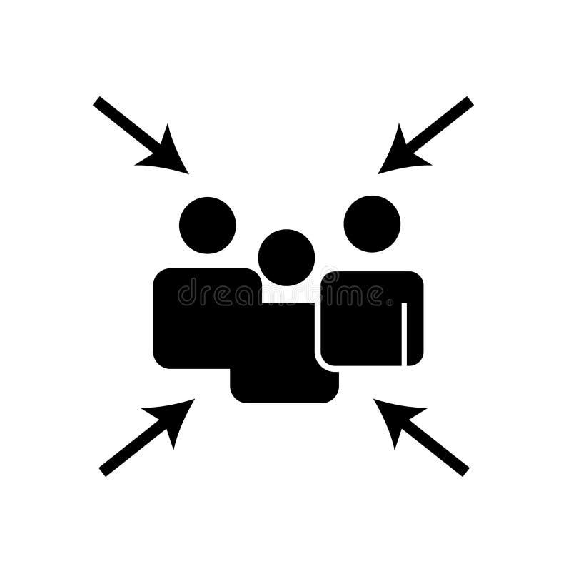 Vetor do ícone do ponto de encontro isolado no fundo branco, sinal do ponto de encontro ilustração do vetor