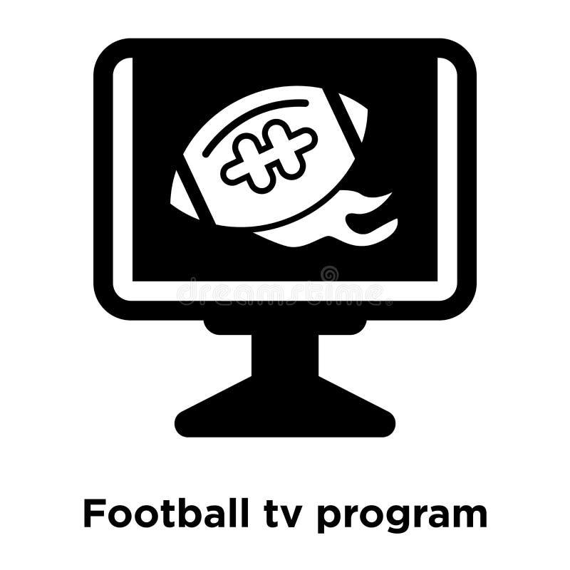Vetor do ícone do programa da tevê do futebol isolado no fundo branco, lo ilustração stock