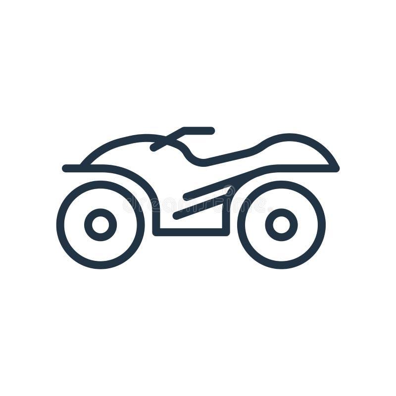 Vetor do ícone do quadrilátero isolado no fundo branco, sinal do quadrilátero ilustração stock