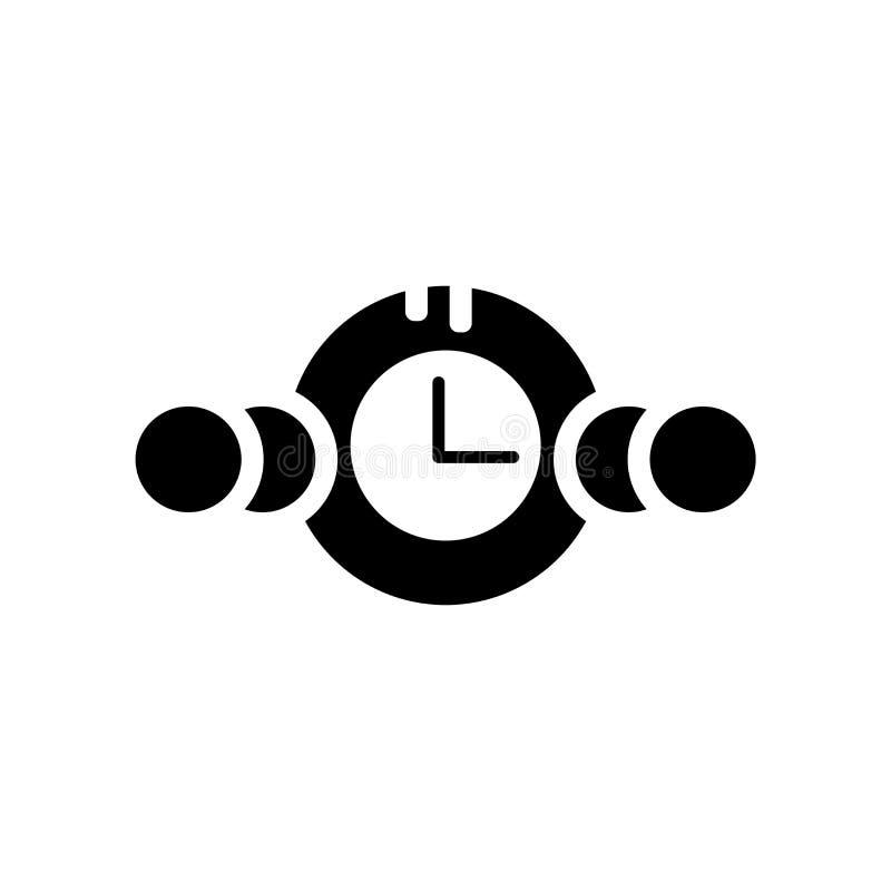 Vetor do ícone do relógio isolado no fundo branco, sinal do relógio, bla ilustração royalty free