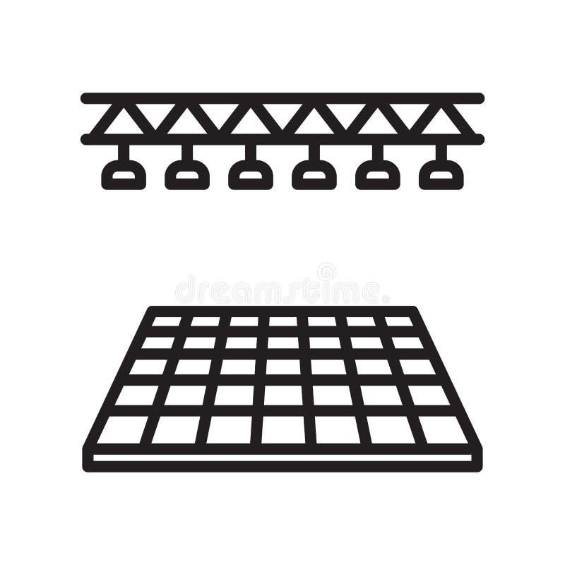 Vetor do ícone do salão de baile isolado no fundo branco, o sinal do salão de baile, a linha ou símbolo e projeto lineares do sin ilustração royalty free