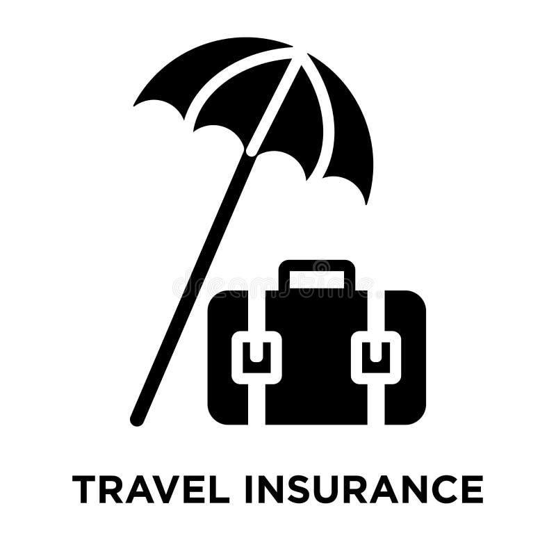 Vetor do ícone do seguro do curso isolado no fundo branco, logotipo ilustração do vetor