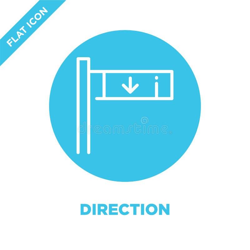 vetor do ícone do sentido Linha fina ilustração do vetor do ícone do esboço do sentido símbolo do sentido para o uso na Web e em  ilustração royalty free