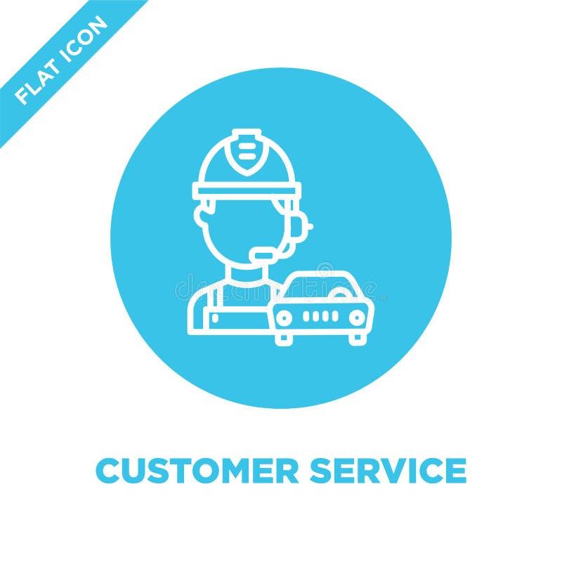 vetor do ícone do serviço ao cliente Linha fina ilustração do vetor do ícone do esboço do serviço ao cliente símbolo do serviço a ilustração stock