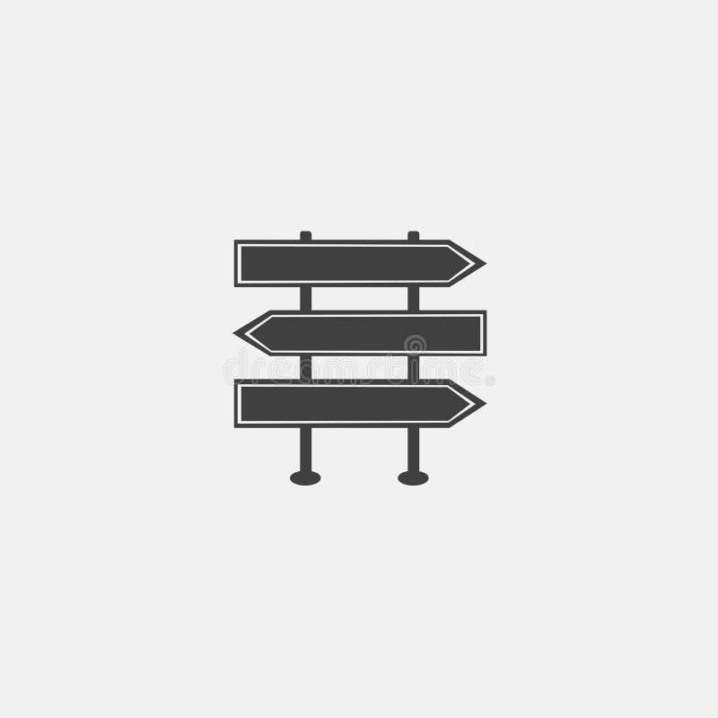 vetor do ícone do sinal de tráfego foto de stock royalty free