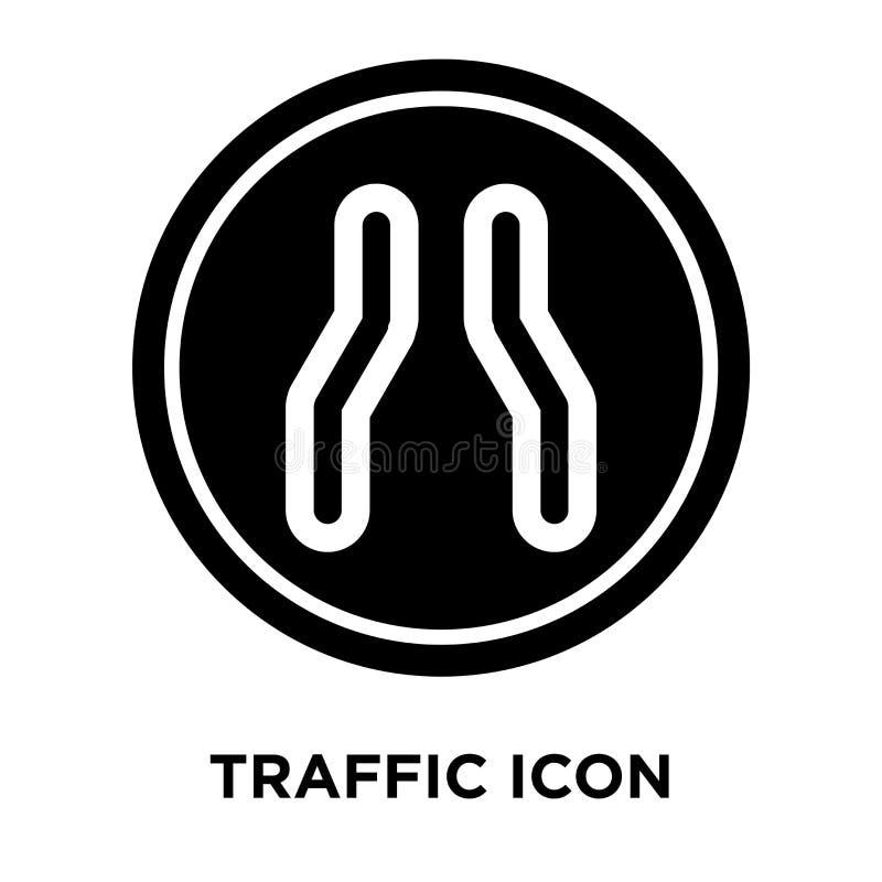 Vetor do ícone do sinal de tráfego isolado no fundo branco, logotipo concentrado ilustração royalty free