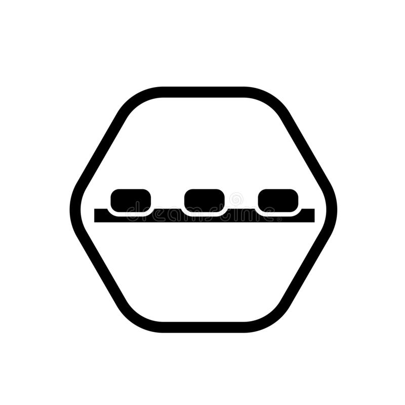 Vetor do ícone do sinal do disjuntor da velocidade isolado no fundo branco, sinal do sinal do disjuntor da velocidade ilustração stock