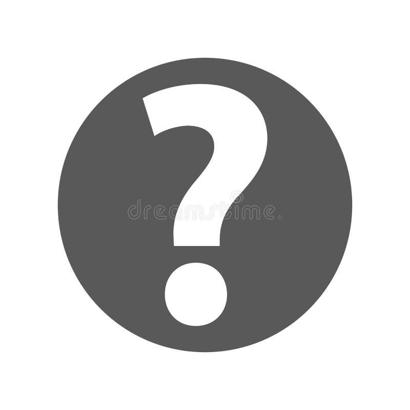 Vetor do ícone do sinal do ponto de interrogação simples ilustração stock