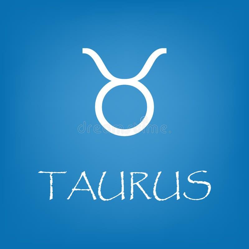 Vetor do ícone do sinal do zodíaco do Touro simples ilustração royalty free