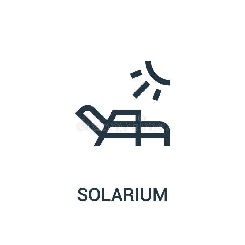 vetor do ícone do solário da coleção do gym Linha fina ilustração do vetor do ícone do esboço do solário ilustração do vetor