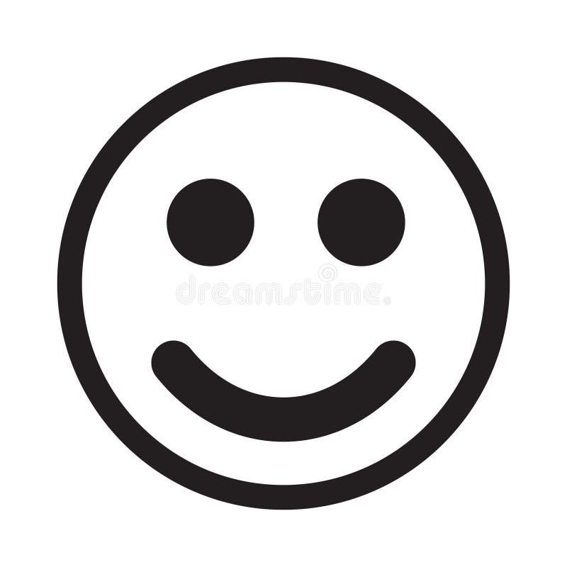 Vetor do ícone do sorriso ilustração do vetor