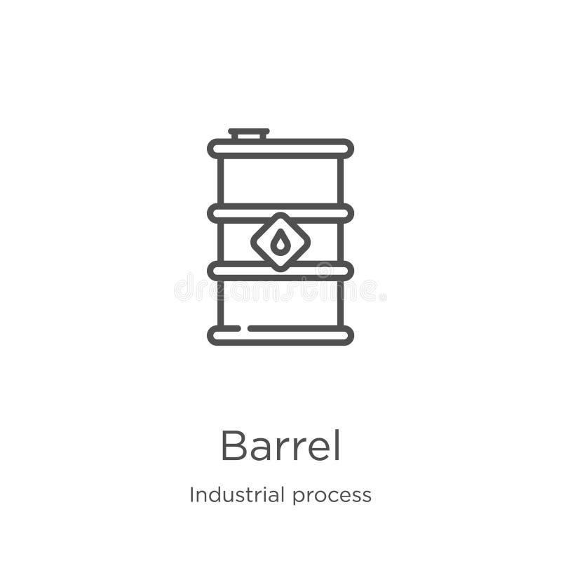 vetor do ícone do tambor da coleção do processo industrial Linha fina ilustra??o do vetor do ?cone do esbo?o do tambor Esbo?o, li ilustração do vetor