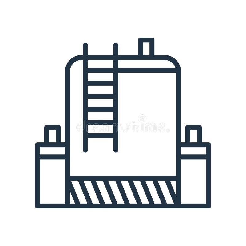 Vetor do ícone do tanque isolado no fundo branco, sinal do tanque ilustração stock