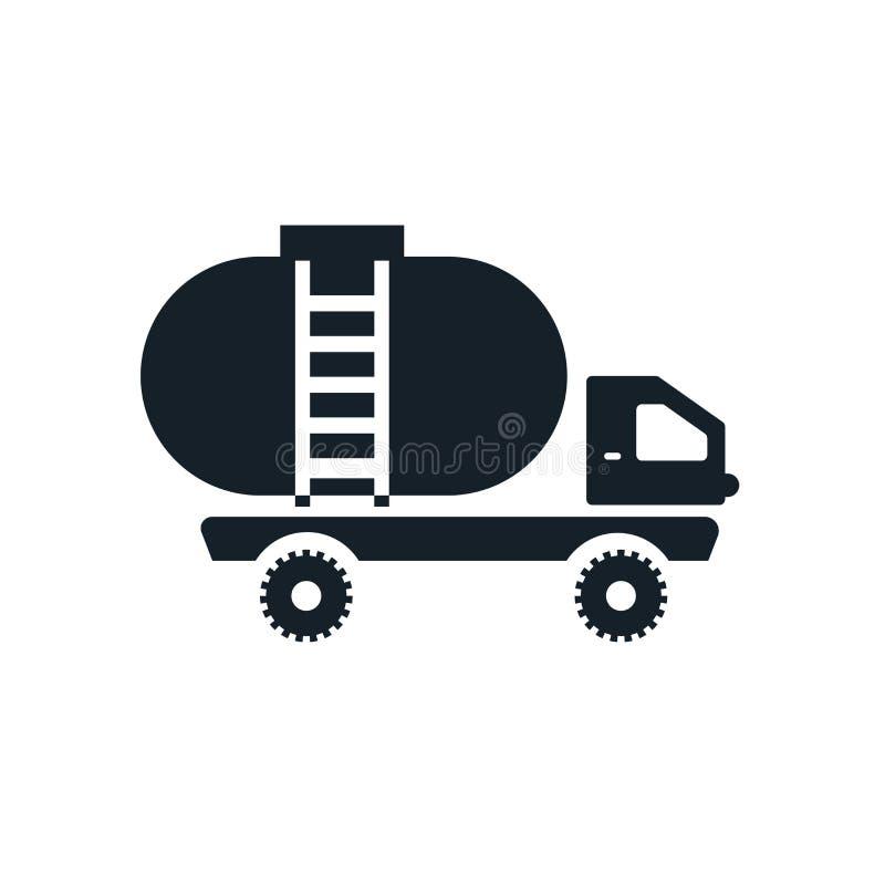 Vetor do ícone do tanque isolado no fundo branco, sinal do tanque ilustração do vetor