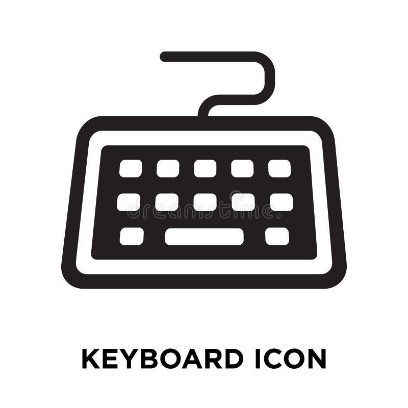 Vetor do ícone do teclado isolado no fundo branco, conceito do logotipo ilustração do vetor