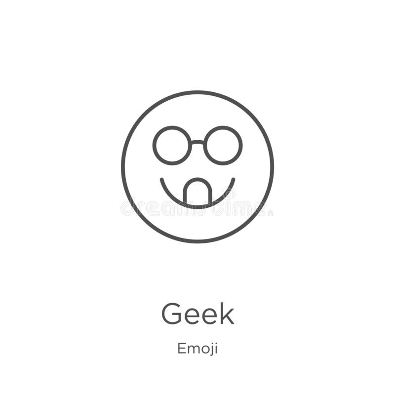 vetor do ícone do totó da coleção do emoji Linha fina ilustração do vetor do ícone do esboço do totó Esboço, linha fina ícone do  ilustração do vetor