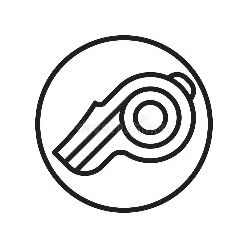 Vetor do ícone do treinador isolado no fundo branco, sinal do treinador, símbolos lineares do esporte ilustração do vetor