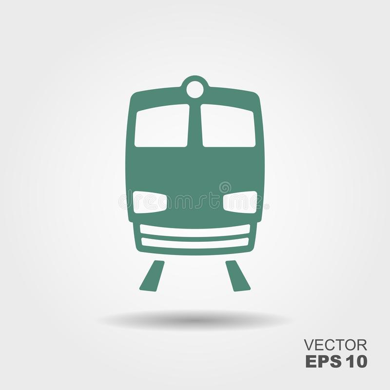 Vetor do ícone do trem ilustração royalty free