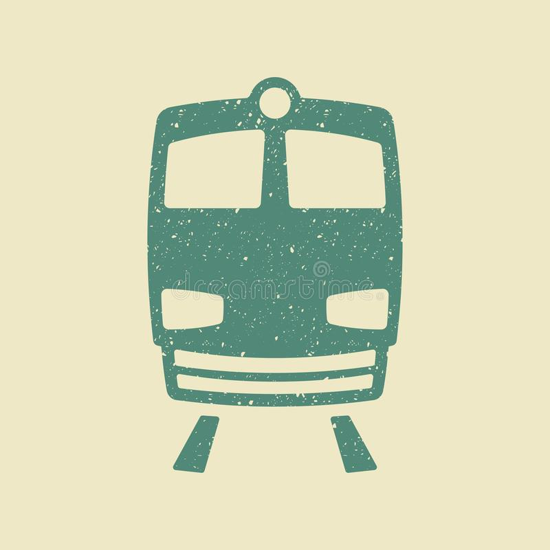 Vetor do ícone do trem no estilo do grunge ilustração do vetor