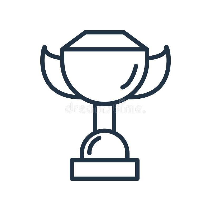 Vetor do ícone do troféu isolado no fundo branco, no sinal do troféu, na linha símbolo ou no projeto linear do elemento no estilo ilustração do vetor