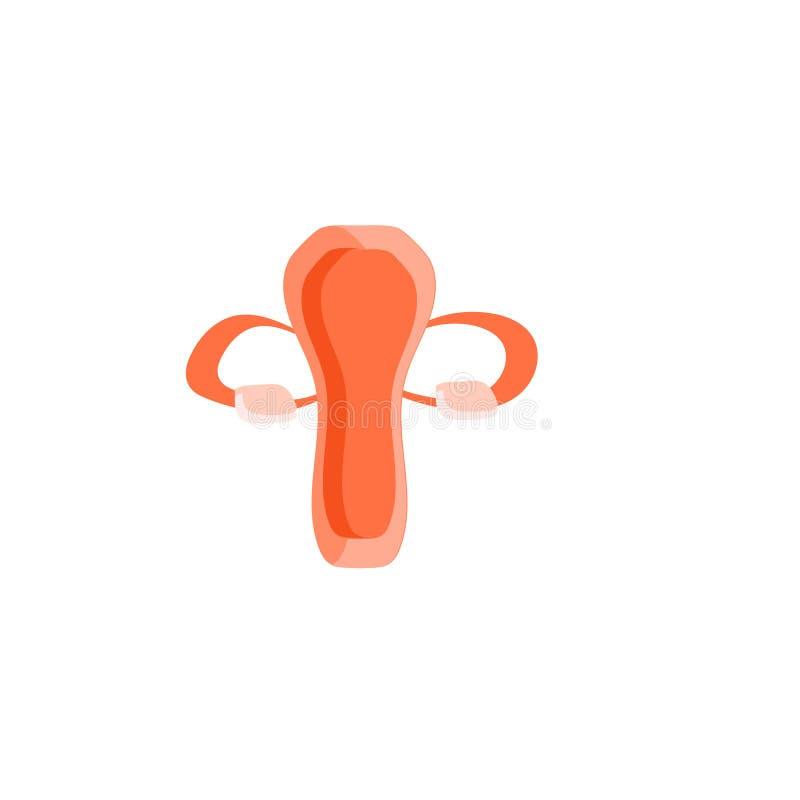 Vetor do ícone do tubo de Falopio isolado no fundo branco, sinal do tubo de Falopio, símbolos da família ilustração stock