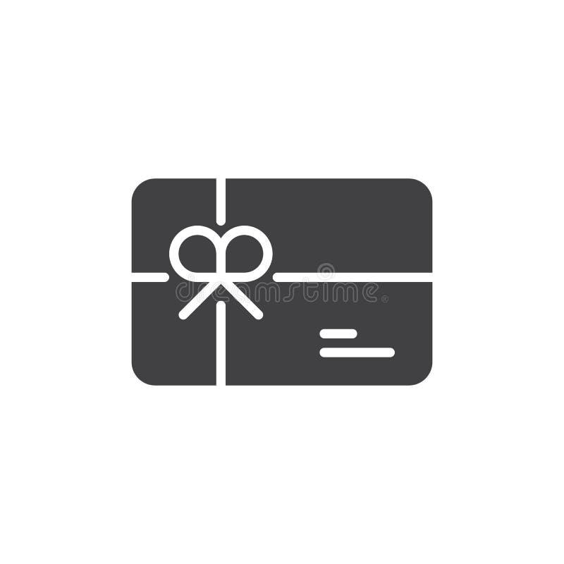Vetor do ícone do vale-oferta ilustração royalty free
