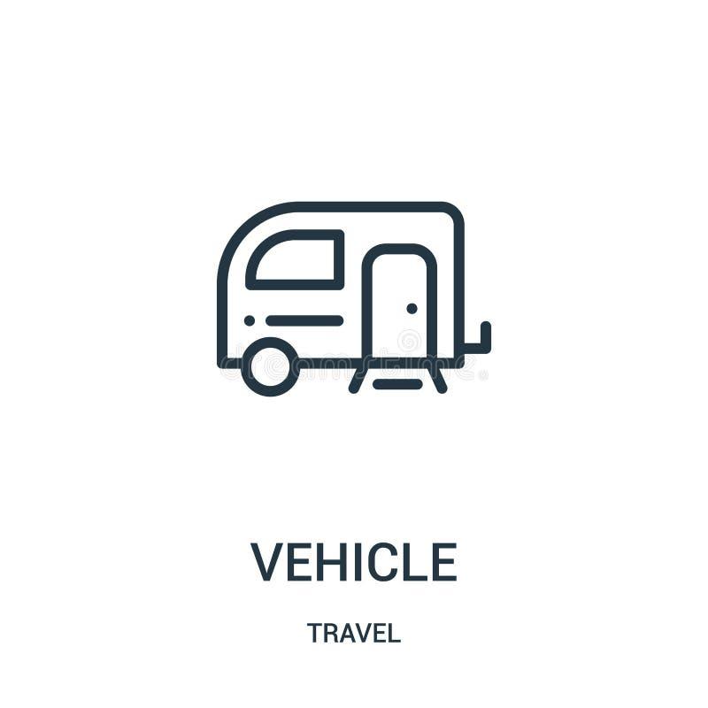 vetor do ícone do veículo da coleção do curso Linha fina ilustração do vetor do ícone do esboço do veículo Símbolo linear para o  ilustração stock