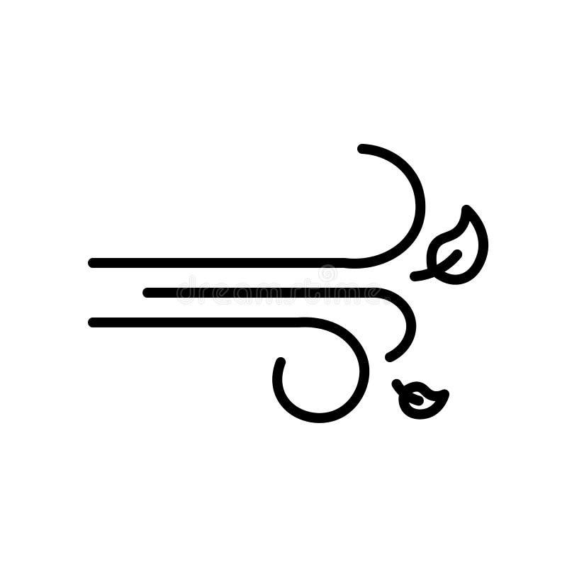 Vetor do ícone do vento ilustração do vetor