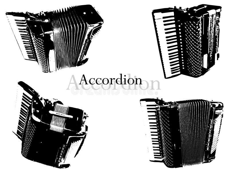 Vetor do acordeão ilustração royalty free