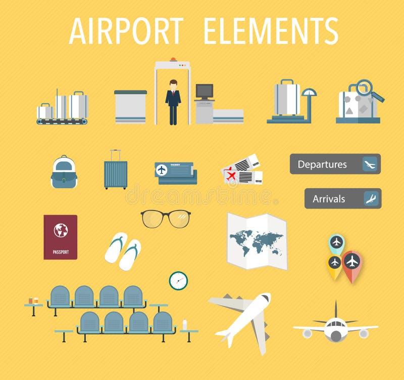 Vetor do aeroporto ilustração stock