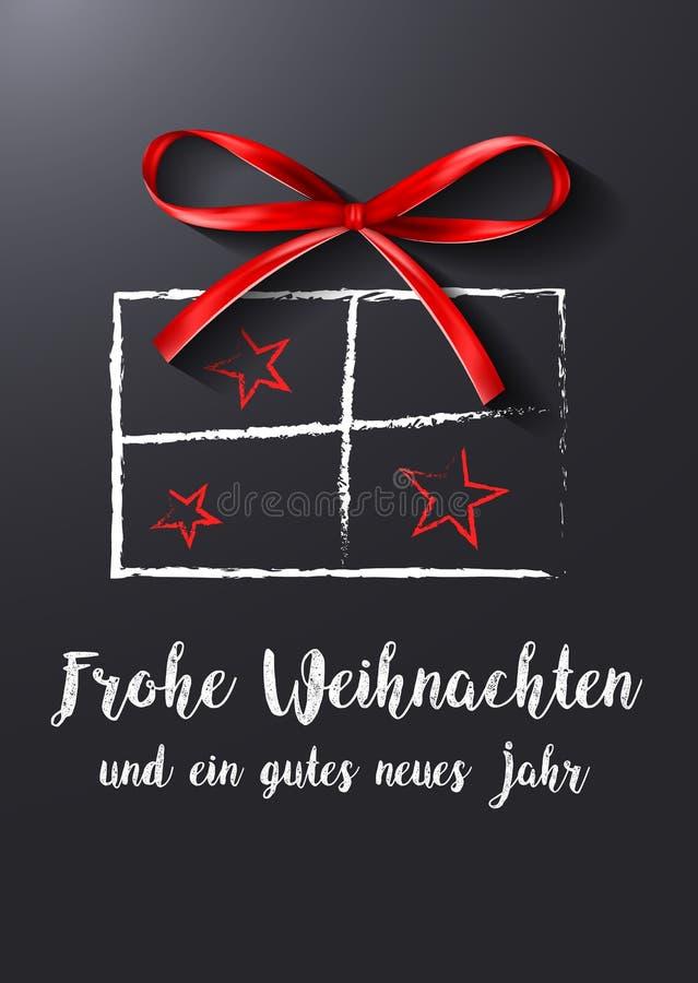 Vetor do alemão do presente do Natal ilustração do vetor