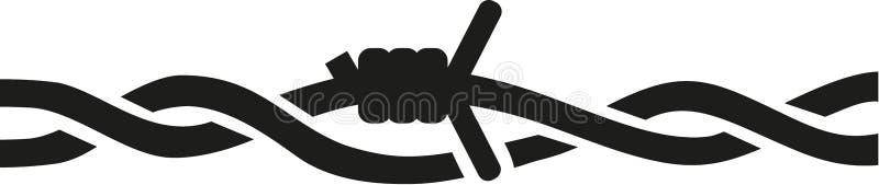 Vetor do vetor do arame farpado ilustração stock