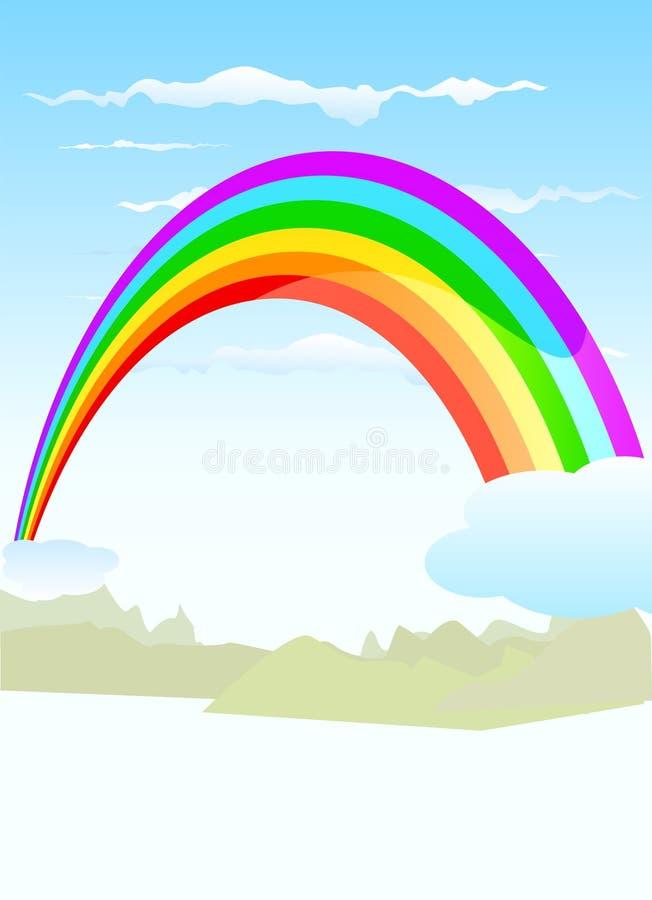 Vetor do arco-íris ilustração royalty free