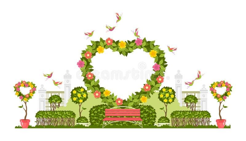 Vetor do arco do casamento ilustração do vetor