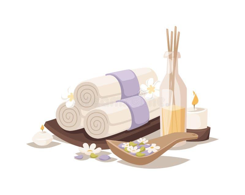 Vetor do aroma de toalhas dos termas ilustração do vetor