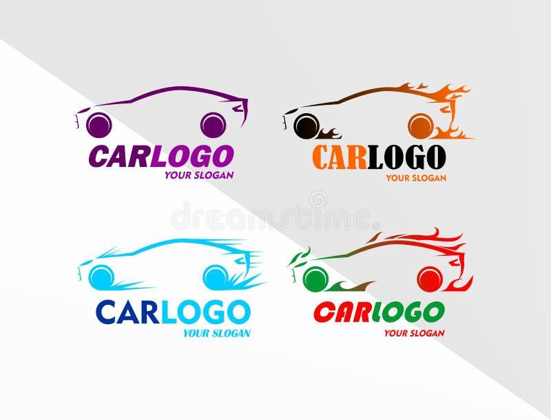Vetor do auto carro Logo Collection ilustração do vetor