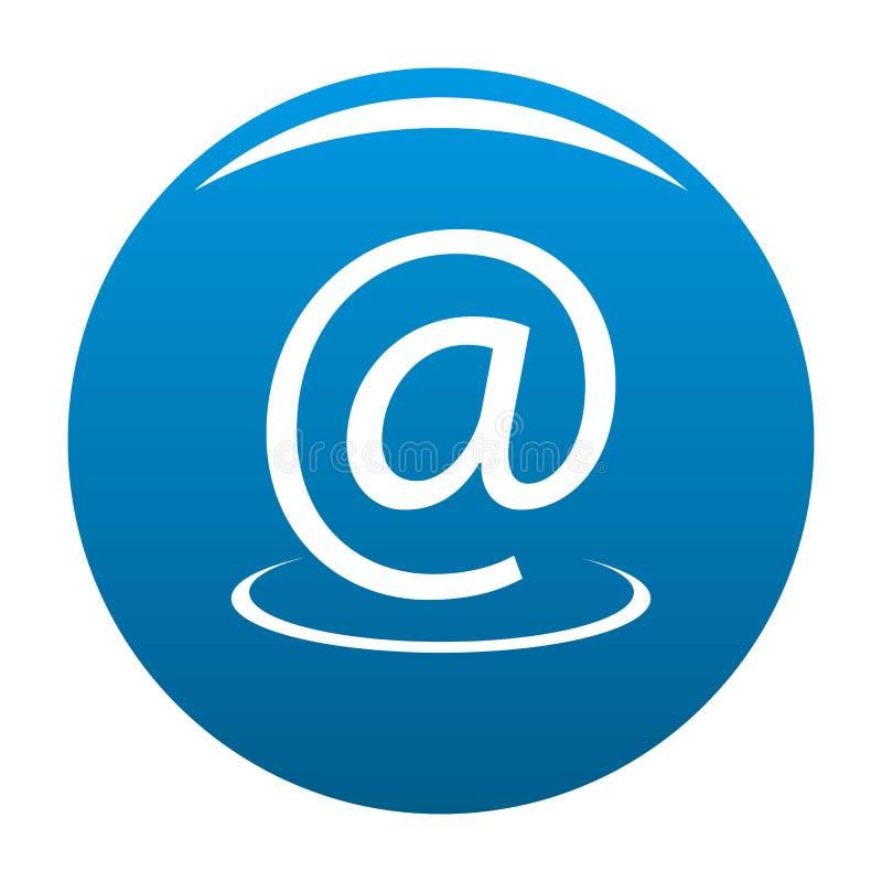 Vetor do azul do ícone do endereço email ilustração stock