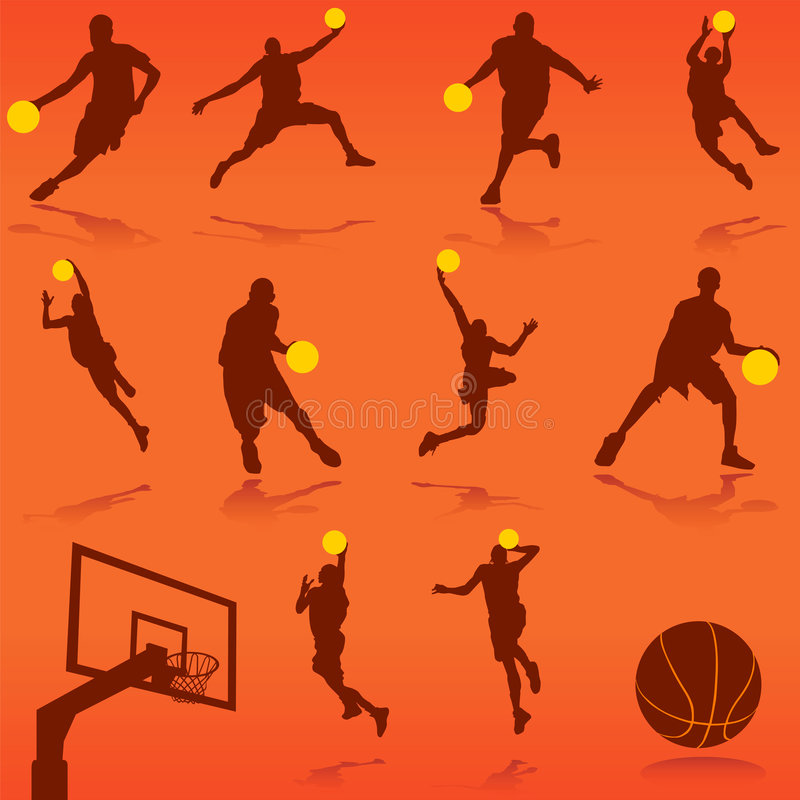 Vetor do basquetebol ilustração do vetor