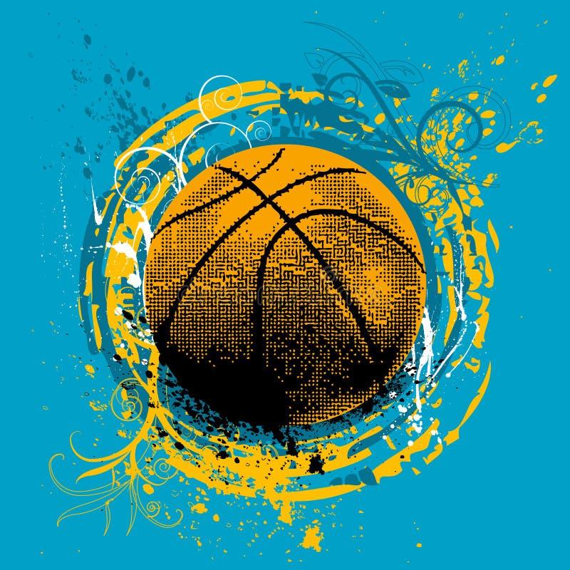 Vetor do basquetebol ilustração royalty free